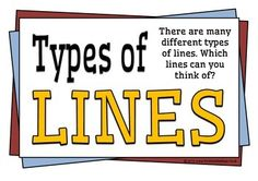 Types of Lines in Shapes Teacher Hacks, Best Teacher, Basketball Bracket, Basketball Games, Different Types Of Lines, Math 2, Gaming Tips, Classroom Displays, Teaching Tips