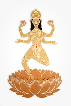 Lakshmi the Goddess of Wealth and Beauty  by dubrovskaya on Etsy, $26.00