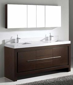 Pic On Madeli Vicenza Walnut Bathroom Vanity with Quartzstone Countertop and Ceramic Undermount Sink royally design features a rich Walnut woodgrain finish