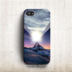 Mountain star light galaxy phone case iphone5S iphone5 modern art iPhone 4s case iPhone cover