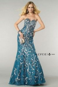 Blue and Sequin Prom Dress  Alyce Prom Dress Prom Dress Ideas Prom Fashion