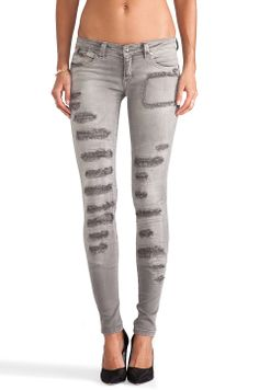 Frankie B. Jeans More Loved Skinny's in Silver