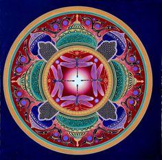 """""""Emerald Temples"""" Mandala ~ Karen Scott"""