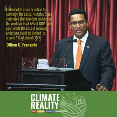 """""""The increase in development and adoption of sustainable technologies, of climate-smart agriculture, of how we might adapt to the new reality in our world, has been unprecedented in the past decade. - @dilhanfernando CEO - Dilmah Tea and Chair @UNGCSriLanka #climateforumSL"""