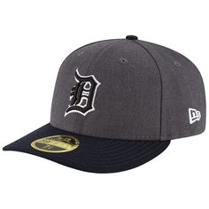 Detroit Tigers New Era Shader Melt 2 Low Profile 59FIFTY Fitted Hat -  Charcoal Navy 48f777b2a5fa