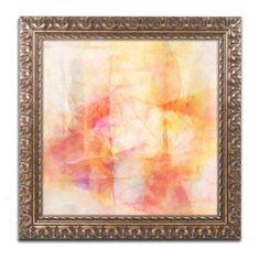 Trademark Fine Art Lightscape Canvas Art by Adam Kadmos, Gold Ornate Frame, Size: 11 x 11, Red