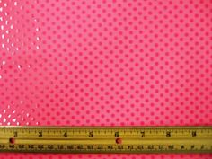 Lycra Patterned Fluorescent Pink Dotty Spot