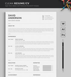 2 Page Professional & Modern Resume/cv template to help you land that great job…. 2 Page Professional & Modern Resume/cv template to help. Basic Resume, Simple Resume, Job Resume, Resume Tips, Professional Resume, Modern Resume, Visual Resume, Student Resume, Job Cv