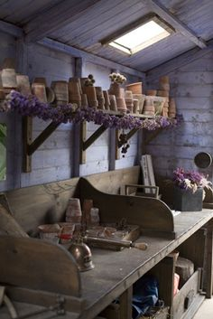 Potting shed or herbal apothecary center