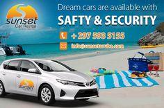 Sunset car rental provide fully safety and security. #aruba #venuzuela #oranjestad #chile #USA