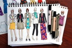 More fashion illustrations [via what i wore book-in-the-making]