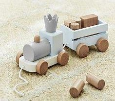 Shop wooden toys from Pottery Barn Kids. Find expertly crafted kids and baby furniture, decor and accessories, including a variety of wooden toys. Toddler Gifts, Toddler Toys, Baby Toys, Kids Toys, Baby Gifts, Blue Train, Personalized Gifts For Kids, Wooden Train, Developmental Toys
