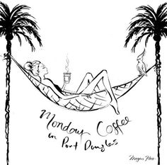 Ahhhhh...Monday coffee in Port Douglas! I have the hair bun and the coffee...now I just need to locate a hammock!!