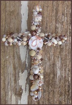 9 inch beaded wire Wall Cross inspiration