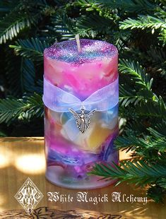 Faerie Worlds . Ambrosia Candle 2x3 . For by WhiteMagickAlchemy, $12.95