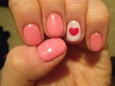 Valentines day shellac! So cute!