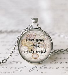 Leave Your Mark On The World Necklace by Livin' Freely on Scoutmob