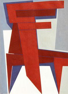 Gualtiero Nativi (Italian, 1921-1999), Senza titolo, 1987. Oil tempera on cardboard, 68.5 x 48.5 cm.