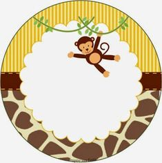 Sweet Jungle: Free Printable Wrappers and Toppers for Cupcakes. Jungle Theme Classroom, Jungle Theme Birthday, Zoo Birthday, Monkey Birthday, Jungle Party, Safari Party, Safari Theme, Tag Safari, Safari Decorations