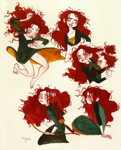 Brave ✤ || CHARACTER DESIGN REFERENCES | Find more at https://www.facebook.com/CharacterDesignReferences if you're looking for: #line #art #character #design #model #sheet #illustration #expressions #best #concept #animation #drawing #archive #library #reference #anatomy #traditional #draw #development #artist #pose #settei #gestures #how #to #tutorial #conceptart #modelsheet #cartoon #female #lady #woman #girl || ✤