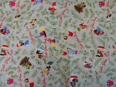 Little Golden Books Childrens Print Green/Red 100% Cotton 1 Yd, 1/2 Yd Crafting, #QT