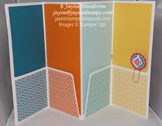 """Inside of altered file folder (made with the """"Quatrefancy"""" specialty designer series paper)."""