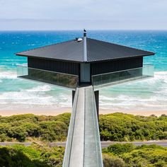 Pole House by F2 Architecture 3 Diamond Shaped Suspended Pole House Delivers Dramatic Experiences