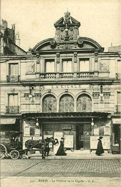 "Paris ""Belle Époque""postcard, ""342, Paris, Le Théâtre de la Cigale, G.I.""."