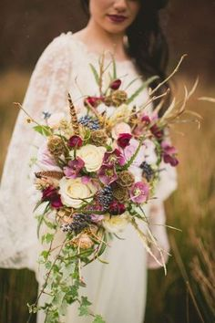 nice colours for fall bouquet