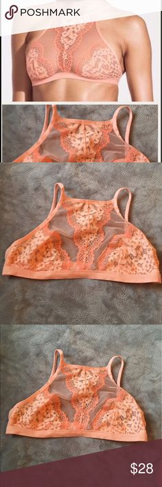 Victoria's Secret high neck bralette size large Victoria's Secret sexy bralette. High Neck bralette new with tags. 1st pic stock all the other pics are of the actual bralette size large Victoria's Secret Intimates & Sleepwear Bras