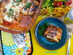 Paleo Moussaka (gluten free and dairy free). You wouldn't know this was healthy by looking at the picture!