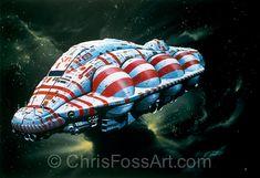chris foss space ship