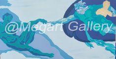 ΚΑΛΛΙΤΕΧΝΗΣ:ΚΑΡΥΜΠΑΛΗ ΕΙΡΗΝΗ ΔΙΑΣΤΑΣΕΙΣ:115X60CM ΑΚΡΥΛΙΚΑ TIMH:1800,00 € Blue Artwork, Shades Of Blue, Logos, Gallery, Roof Rack, Logo