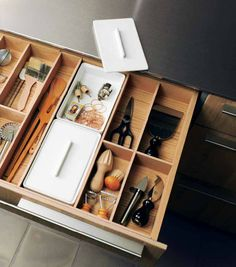 bulthaup, drawer organization