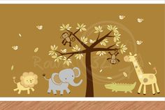 Jungle Theme Wall Decal  Children's & Infant's Bedroom by Round321, $185.00