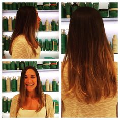 Nice subtle ombre done by Mandy, one of our Master Stylists.  #hairstyle #newdo #color #ombre #haircut #salonpurect