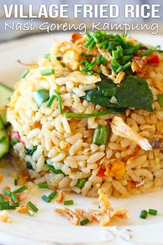 Easy spicy anchovy fried rice, one of the famous Malaysian fried rice, also known as nasi goreng kampung. It's different and delicious. Easy Asian Recipes, Halal Recipes, Wine Recipes, Healthy Recipes, Ethnic Recipes, Nasi Goreng Kampung, Malaysian Food, Malaysian Recipes, Anchovy Recipes