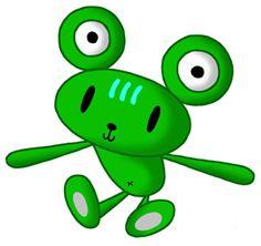 Teddy bear cartoon character - Frog like bear