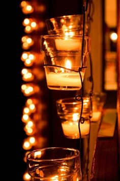 Fabulous candlelight for a stunning reception!