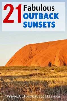 21 sunsets in Outback Australia
