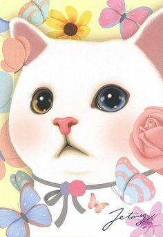 Jetoy Choo choo cat postcard