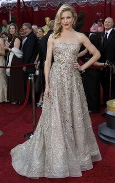 Cameron Diaz's Sparkly Oscar De La Renta Gown