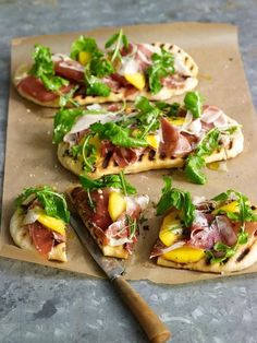 The combination of sweet mango and salty prosciutto makes a lovely—and surprising—pairing. If you're pressed for time or just feeling lazy, you can buy readymade flatbread and focus your energy on the toppings.