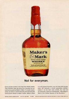 Maker's Mark Whisky Bottle (1964)