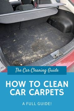 How to Clean Car Carpets Seats and upholstery in your car become d… How to Clean Car Carpets Seats and upholstery in your car become dirty very quickly. This guide will show you have to clean car carpets and upholstery to make them looking brand new! Car Upholstery Cleaner, Car Seat Upholstery, Cleaning Car Upholstery, Car Carpet Cleaner, Clean Car Carpet, Cleaning Carpets, Car Cleaning Hacks, Car Hacks, Cleaning Interior Of Car