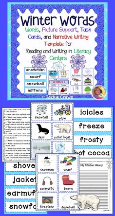 This product has 38 winter words to put in your pocket chart for creative writing activities, word hunts, penmanship, phonics, spelling, etc. This is especially nice to copy and have your ELL children put into a writing folder as well. There is picture support for each word. This could be used for read around the room or matching activities.