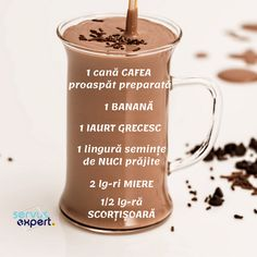 Sănătate la pahar cu SEMINȚE și NUCI - Servus Expert Healthy Breakfast Snacks, Healthy Menu, Healthy Drinks, Smoothie Drinks, Smoothie Recipes, Helathy Food, Chocolates, Dessert Shots, Seafood Appetizers
