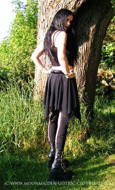 Moonmaiden Gothic Clothing - Merelven Mini Skirt