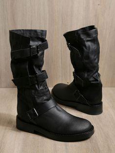 Ann Demeulemeester Ann Demeulemeester Womens Double Nap Nero Boots in Black (nero)