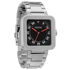 Nixon A189000 Men's The Riot Black Dial Stainless Steel Bracelet Watch - Discount Watch Store